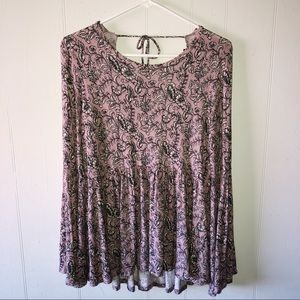 AEO Soft & Sexy Peplum Top Open Back Cold Shoulder